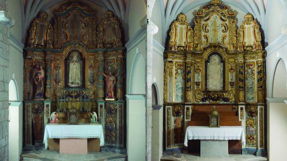 El CRBMC ha restaurat el retaule barroc de la Mare de Déu del Roser de l'església de Santa Maria de Colomers
