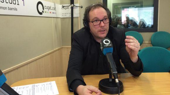 Carles Miró durant l'entrevista al 'Sant Cugat a fons'