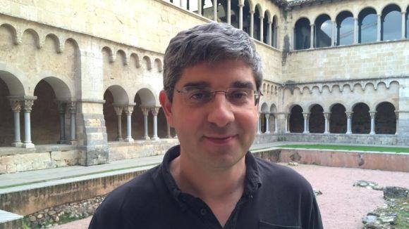 Ignasi Ribas, instants abans d'oferir la xerrada