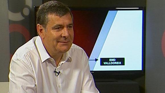 Josep Puig al plató de Cugat tv