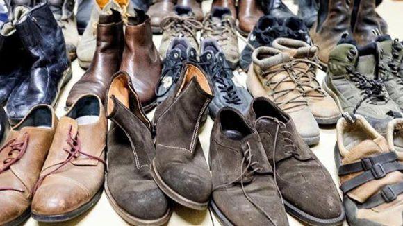 L'Església Protestant de Valldoreix recull més de 1.500 sabates per a refugiats