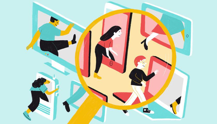 Il·lustració sobre l'accés a les pantalles