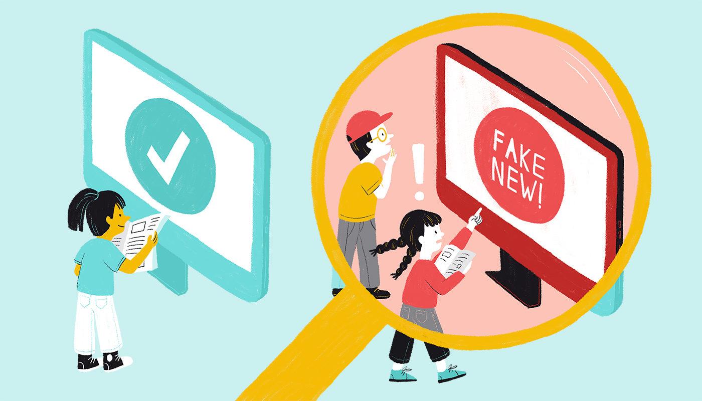 Il·lustració sobre les Fake News
